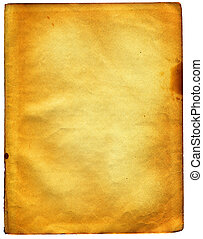 Old textured paper with tattered edge. On white. BIG