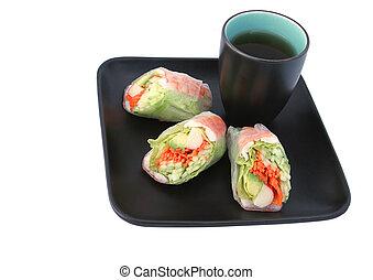 Japanese Salad Roll & Tea