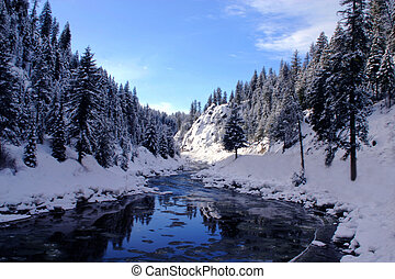 The Canyon - Payette river betewwn Smiths Ferry and Cascade...