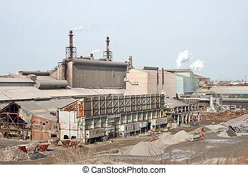 Steel Industry - A steel plant.