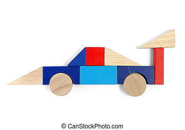 Baby blocks figure - race car - Baby blocks figure - sport...