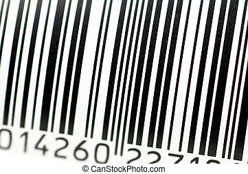 barcode in close up - barcode