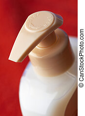 shampoo bottle in macro - shampoo bottle in close up