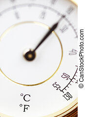 thermometer in macro - thermometer in close up