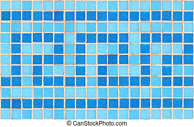Tile mosaic - Blue tile wave mosaic