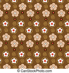 Retro wallpaper - Retro styled floral wallpaper