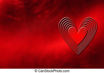 Heart background - Abstract heart background