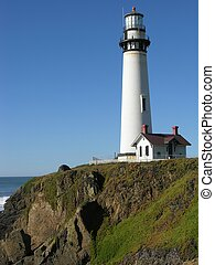 Lighthouse, at Pigeon Point, California.