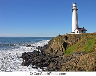 Pigeon Point - The coast near Pigeon Point, California.