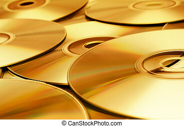 Disc Texture (Gold) - Gold disks background.