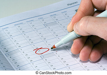 Urgent Reminder - Marking a planner with an urgent reminder