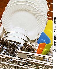 dishwasher - loaded dishwasher