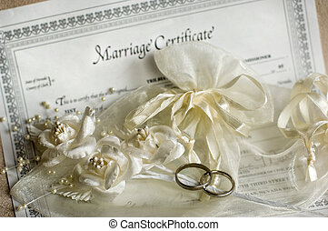 Wedding rings - Marriage certificate