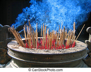 Cleanse me - burning joss sticks