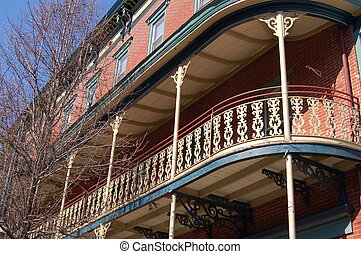 Balcony - This New Orleans style grand hotel sits in the...