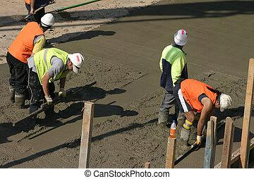 equipo, esfuerzo, -, comercial, cementación