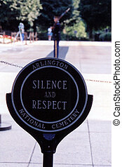 Silence And Respect - Sign at the entrance to the Tomb of...