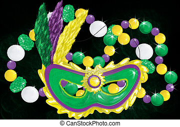Mardi Gras Collage - Collage of mardi gras items
