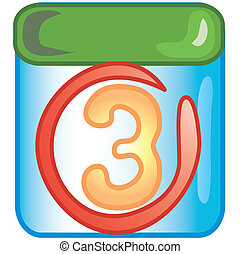 Date icon - Stylized circled date icon or symbol.