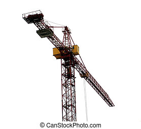 Crane 3 - A construction crane, isolated