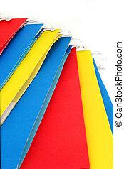 file folders - multi colored file folders