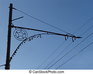 Trolley lines - Moscow: trolley pole and wires