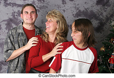 Oooops - Accident - A family posing for a Christmas portrait...