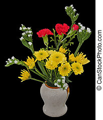 Welcome bouquet - A welcome bouquet of flowers in a vase,...