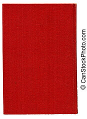 Red burlap canvas. Over white