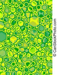 Lime Cube Blobs - Yellow, Green, Lime Cube blobs