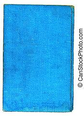Light blue burlap canvas. Over white