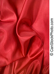 Red satin background - Folds in red satin