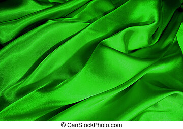 Green satin waves - Green satin wave bacground