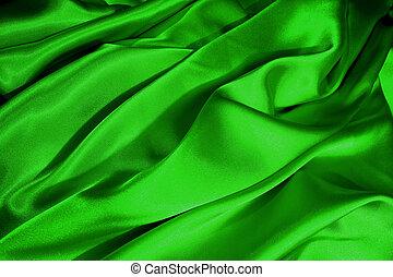 Green satin waves - Green satin wave bacground