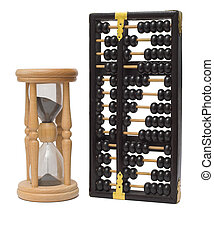 Time is money sandclock and abacus