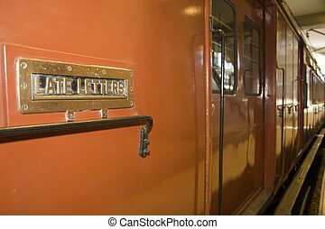 Late Letter Box - Late letter box on a train