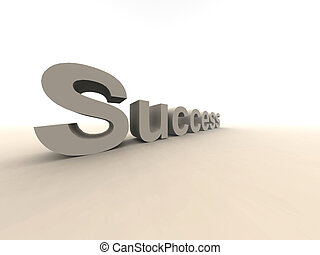 Success - 3D rendered Illustration