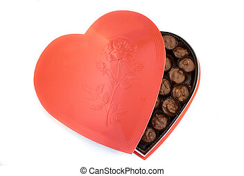 Heart shaped box of nuts chocolates. Perfect for...