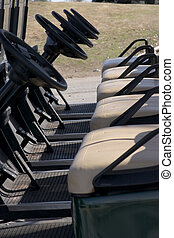Ready Golf Carts - Electric Golf Carts waiting in line