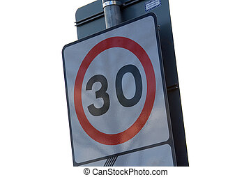 Speed Limit Sign - thirty miles per hour speed limit sign