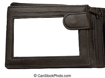 Wallet Picture Frame - Leather wallet picture frame to put...