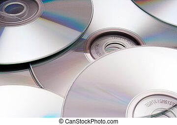 Discs (Silver) - Silver disks background.