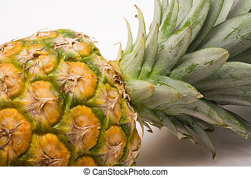 Pineapple (Close) - Pineapple against white.