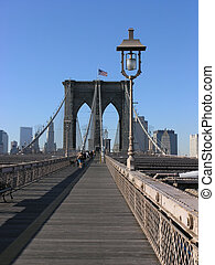 Brooklyn bridge - Photo of the Brooklyn bridge boardwalk