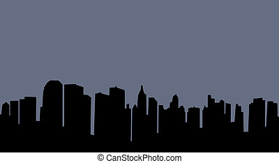 City skyline - Illustration of an urban skyline