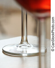 Wine - Red Wine Bases of Glasses Soft Focus