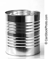 Tin Can - Metal Tin Can isolated on white background