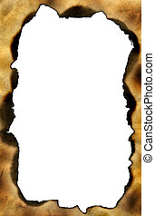 Grunge frame with with scorched edges. High resolution....
