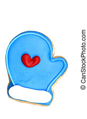 Cookie - Blue Mitt - Blue Mitt sugar cookie (cookie series)....