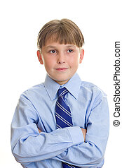 School Boy in uniform with arms crossed